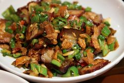 White jalapeno Chinese preserved meat, Traditional Hunan Style, Flushing, Queens