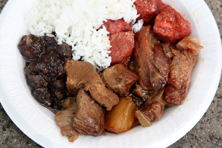 Pork sampler, Five Chris Catering, Santacruzan Festival, Jersey City