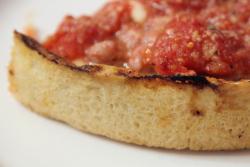 Chicago classic (detail of crust), Lou Malnati's Pizzeria, Chicago