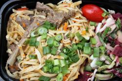 Lamb noodle salad, Mongols Naadam Celebration, Central Park, Manhattan