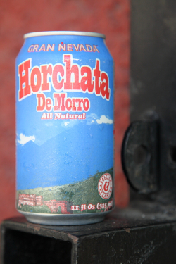 Gran Nevada brand horchata de morro, Las Americas Food Center, Newark, New Jersey
