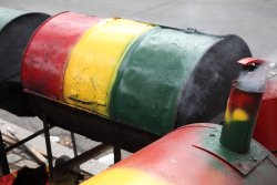 Oil-drum cookers, West Indian Day Parade, Crown Heights, Brooklyn