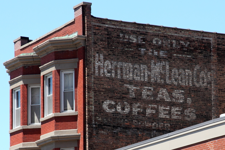 Use only the Herman McLean Co's teas, coffees, surviving signage, Cleveland