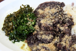 Feijoada e couve (Brazilian pork-and-bean stew and collard greens), International Cafe, Port Chester
