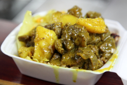 Curry goat, Mike's Caribbean Take Out, Melrose, Bronx