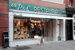 Madewell with surviving R&L Restaurant signage, Gansevoort St, Manhattan