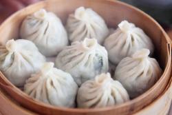 Chive momos, Cholsum Tibetan Restaurant, Jackson Heights, Queens