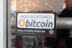 Aqui aceptamos bitcoin, Flor de Broadway, Manhattan