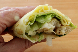 Fish-filled pancake roll, Hong Kong Bakery, Sunset Park, Brooklyn