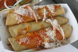 Chicken flautas, Carrillo cart, Red Hook Ball Fields, Red Hook, Brooklyn