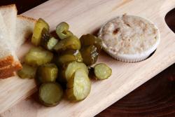 Rye, pickles, and pork-fat spread, Krolewski Jadlo, Greenpoint, Brooklyn