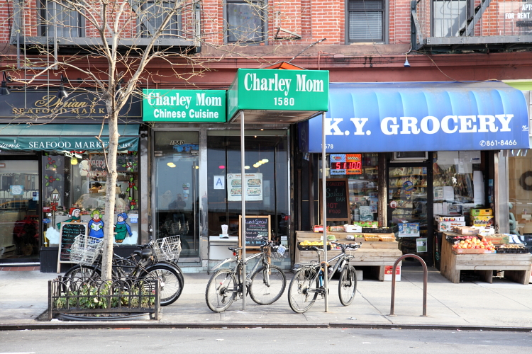 Dorian's Seafood Market, Charlie Mom, and KY Grocery, York Ave, Manhattan