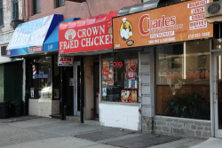 Charles Pan Fried Chicken Restaurant and neighbors, Frederick Douglass Blvd, Manhattan