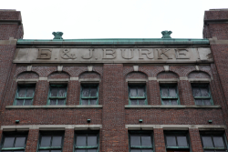E&J Burke, surviving signage, West 46th St, Manhattan