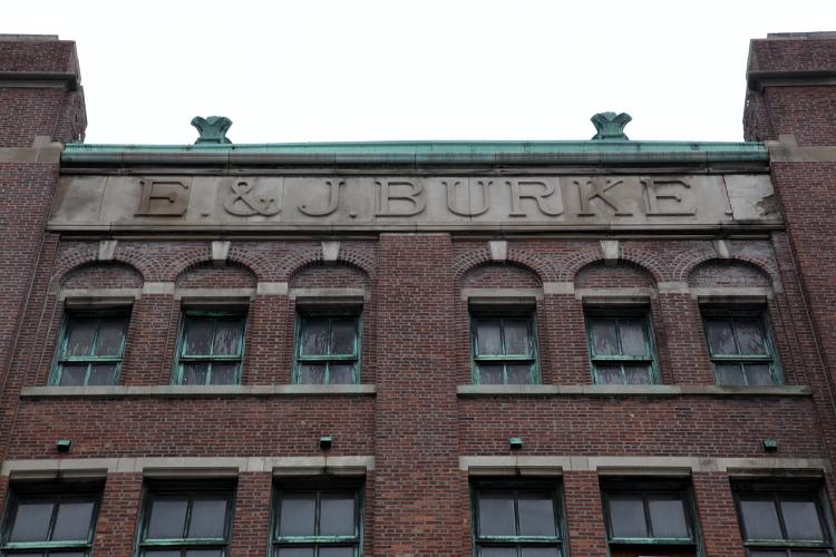 E&J Burke, surviving signage, West 46th St, Manhattan