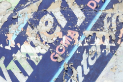 Wrigley's Winterfresh goma de mascar (detail of refresco underlayer)  surviving signage  Mexico City