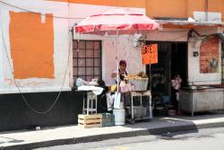 Elote and chayote vendor  Mexico City
