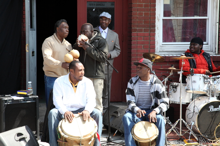 Musicians at the Garifuna Day festival  Mott Haven  Bronx