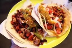 Tacos campechanos  Tacos de Cecina Vero  Mercado de la Merced  Mexico City
