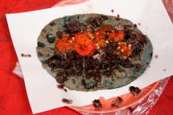 Taco de relleno (de puerco)  Mercado de la Merced  Mexico City