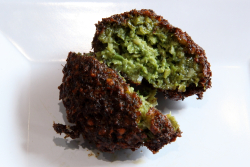 Falafel (cutaway view)  Hazar Turkish Kebab  Bay Ridge  Brooklyn