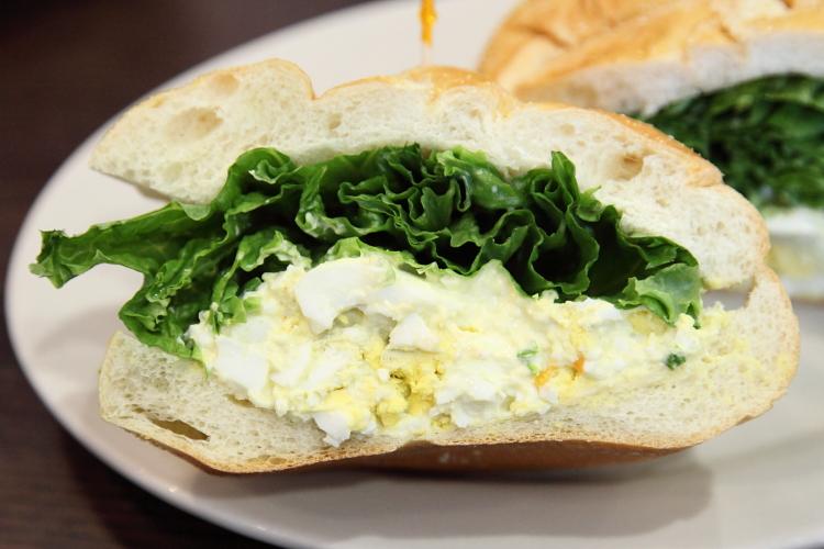 Egg salad sandwich  George's Restaurant  Ditmas Park  Brooklyn