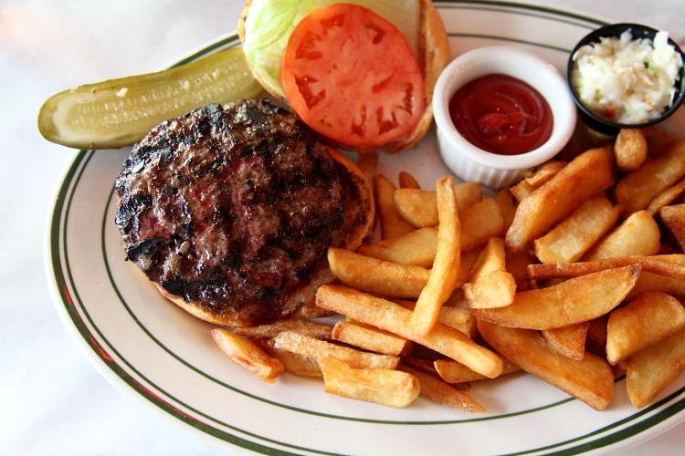 Burger platter  Pete's Tavern  East 18th St  Manhattan