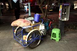 Tamal vendor's cart  Mexico City