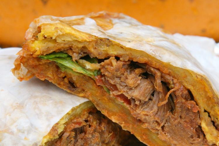 Carne mechada patacon  El Cocotero  West 18th St  Manhattan