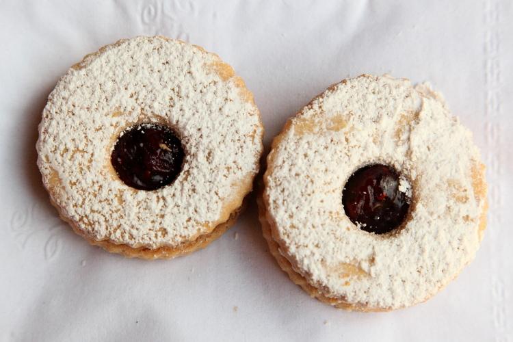 Linzer cookies  Valerio Bakery Cafe  College Point  Queens