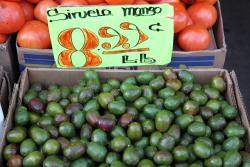 Siruela mangos (aka ciruelas)  La Central Fruit Market  Sunset Park  Brooklyn