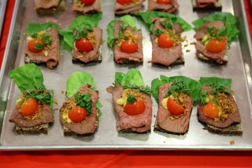 Roast beef smorrebrod  Danish Seamen's Church Christmas Fair  Plymouth Church  Brooklyn Heights  Brooklyn