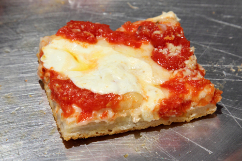 Grandma pie with fresh mozzarella  Sebastiano's Fine Italian Restaurant  Columbia Street Waterfront District  Brooklyn