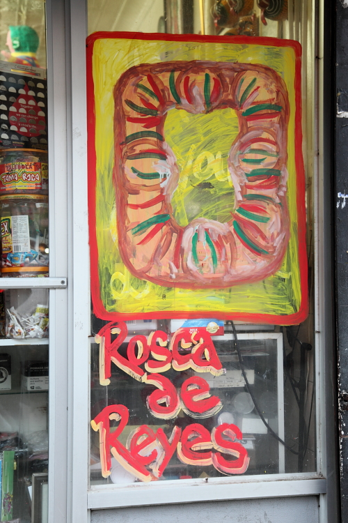 Rosca de reyes  hand-painted artwork  Panaderia Mi Mexico Pequeno  Sunset Park  Brooklyn