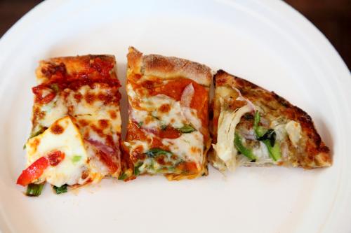 Schezwan paneer chilly  pav bhaji  and chicken korma pizze  Papa Pancho Pizza  Edison  New Jersey