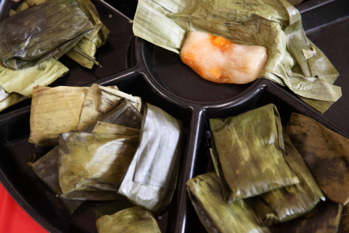 Banh bot loc (steamed tapioca dumplings)  Vietnamese Lunar New Year Celebration of Mekong NYC  St James Recreation Center  Fordham Heights  Bronx