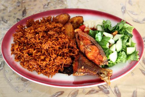 Jollof rice  Akwaaba Restaurant  Prospect Lefferts Gardens  Brooklyn