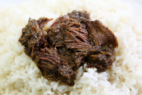 Cassava-leaf sauce with beef  Cedeao Grill  Morrisania  Bronx