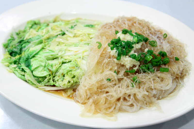 Steamed baby cabbage with garlic vermicelli  Mingle  Flushing  Queens