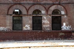 Windows, the former Consumers Park Brewery, Crown Heights, Brooklyn