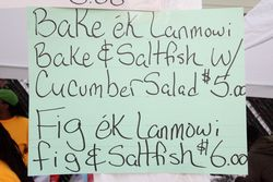 Signage at the Jounen Kweyol, The Saint Lucia Community Center, East Flatbush, Brooklyn