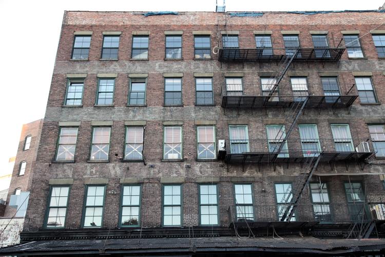 ES Burnham & Co, surviving signage (detail), Gansevoort Street, Manhattan