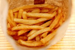 French fries, Hard Times Sundaes, Mill Basin, Brooklyn