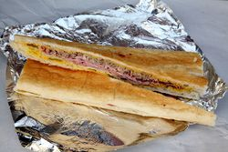 Cuban sandwich, Mita's Cafe Cubano, Arabi, Louisiana