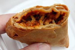 Crawfish hand pie (biteaway view), QuarterMaster, New Orleans