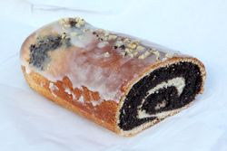 Poppy-seed roll, Star Deli & Bakery, Greenpoint, Brooklyn