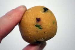 Besan ladoo, Maharaja Sweets, Jackson Heights, Queens