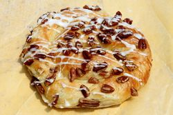 Pecan danish, Palisades Park Bakery, Palisades Park, New Jersey