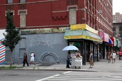 Ices cart, East 115th Street, Manhattan