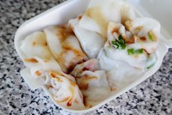 Xiami chang fen, dried shrimp rice rolls, Sun Hing Lung, Henry Street, Manhattan
